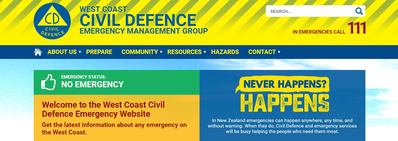 West Coast Emergency Website