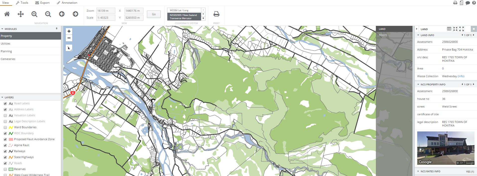 Online Maps | Westland District Council